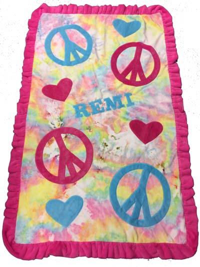 Remi's tie-dye toddler blanket