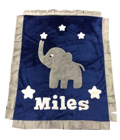 Mile's Elephant Minki blanket