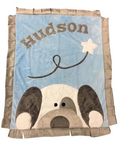 Hudson's Peek A Boo Puppy Blanket