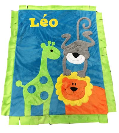 Leo's Wild Animal Blanket....bright and FUN