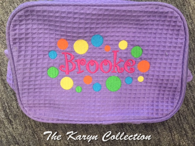 Brooke's lavender Waffle Bag