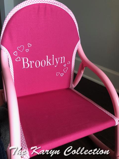 Brooklyn's mini hearts pink rocker
