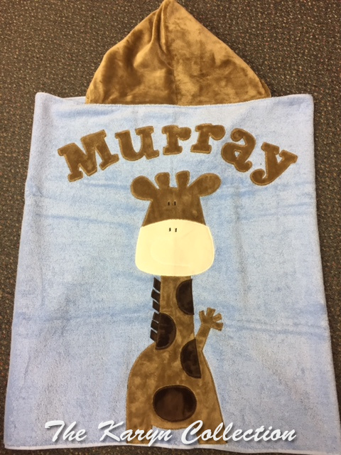 Brown & White Giraffe Toddler Hooded Towel