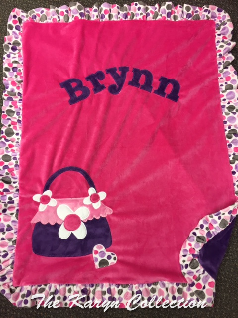 Brynn's Hot pink with dots ruffle