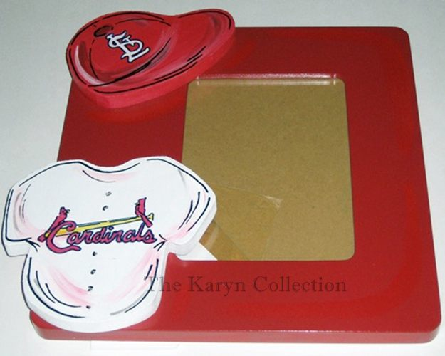St. Louis Cardinals Hand Painted Picture Frame