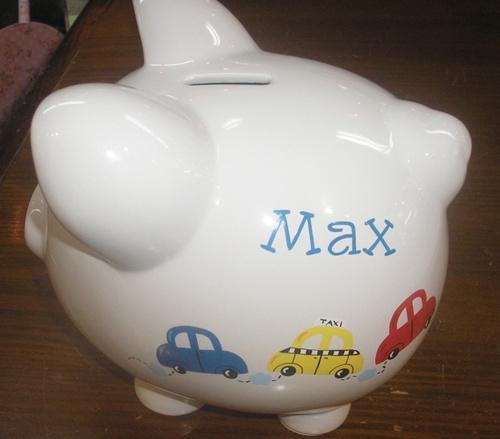 Cars Piggy Bank