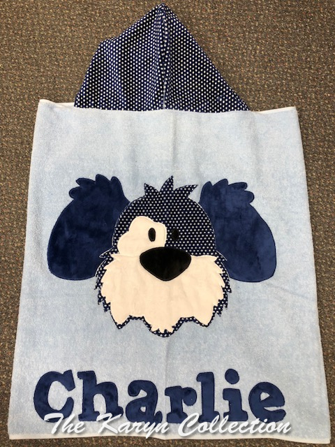 Charlie's Blue Dog Toddler Towel