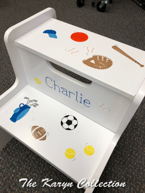 Charlie's Sports 2 Step Stool - Golf theme