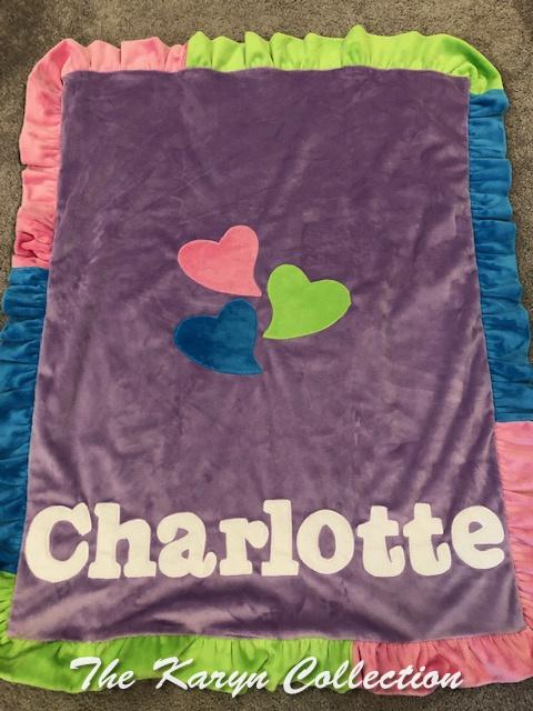 Charlotte's Colorful Heart minki Blanket