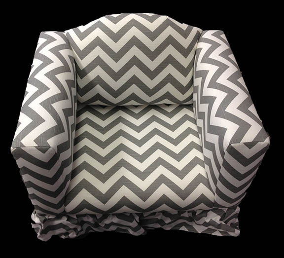 Chevron Chair with ruffled skirt