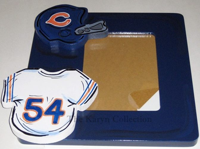 Chicago Bears Hand Painted Picture Frame