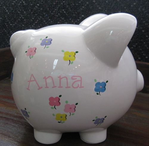 Clover Flowers Piggy Bank