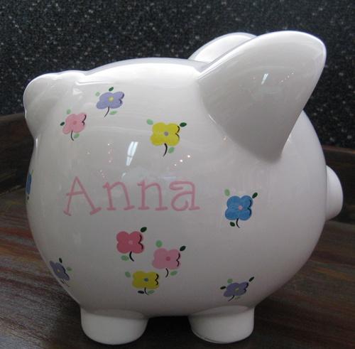 Anna's Clover Flowers Piggy Bank