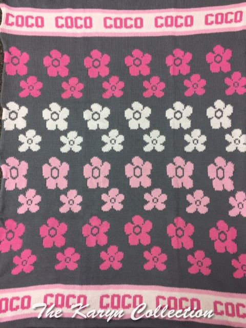 *EXCLUSIVELY OURS...COCO'S FLOWERS ALL COTTON BLANKET