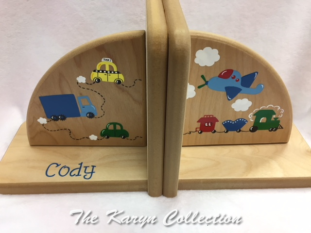 Cody's Cars-trucks-Trains Bookends