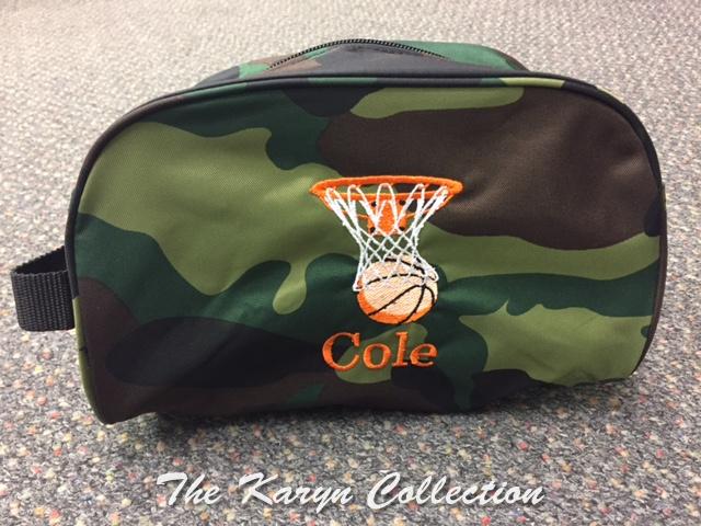 Cole Basketball Camo Dopp Kit