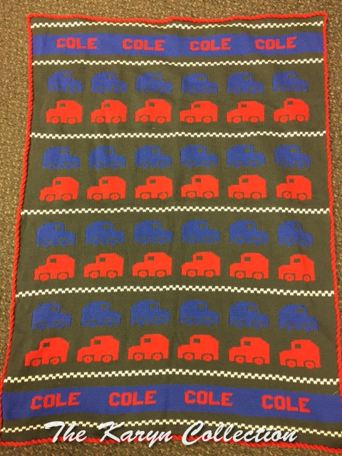 *COLE'S ALL COTTON CARS CRIB BLANKET