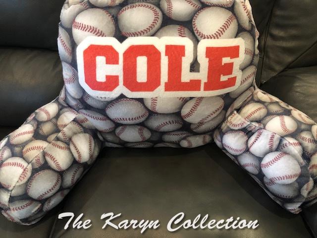 Cole's Baseball Study Pillow ,,,,aka a husband!
