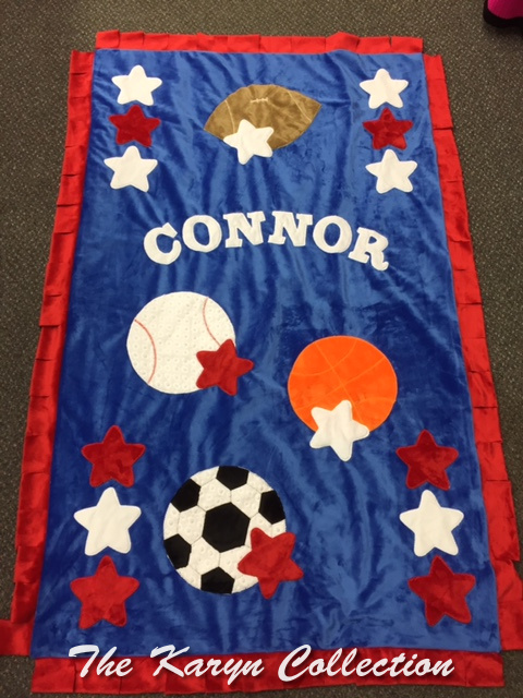 Connor's Sports Minky in TODDLER SIZE *****