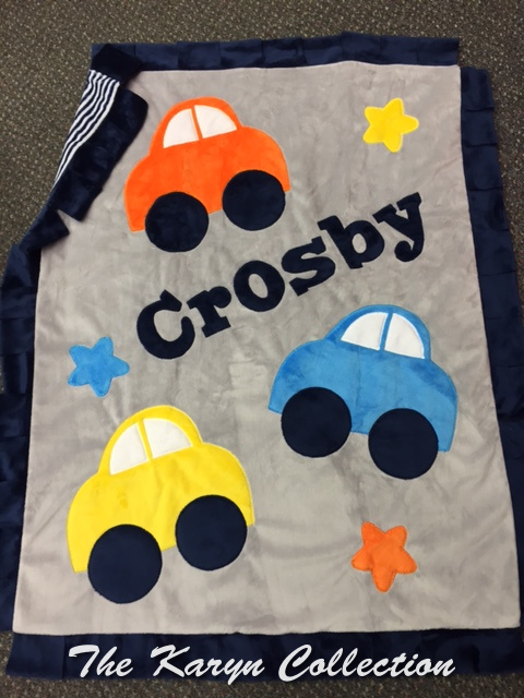 Crosby's Cars Minky Blanket