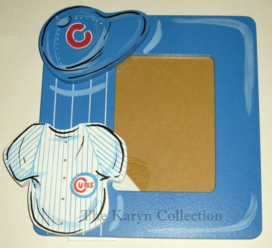 Cubs Hand Painted Picture Frame