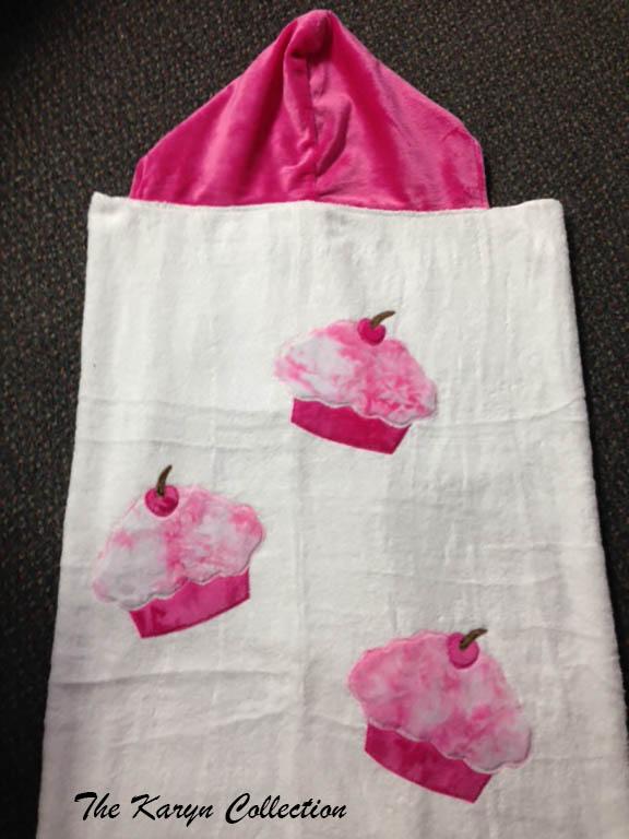 Tie Dye Cupcake Toddler Hooded Towel