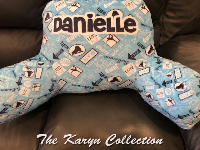 Danielle's Skating Study Pillow