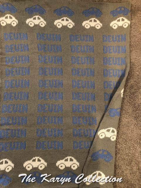 *EXCLUSIVELY OURS... Devin's cars cotton blanket