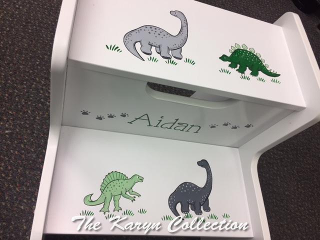 Aidan's Dinosaur 2 Step Stool