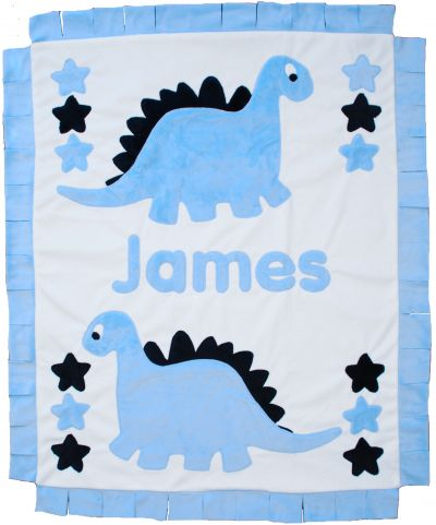 Dinosaurs Minky Blanket