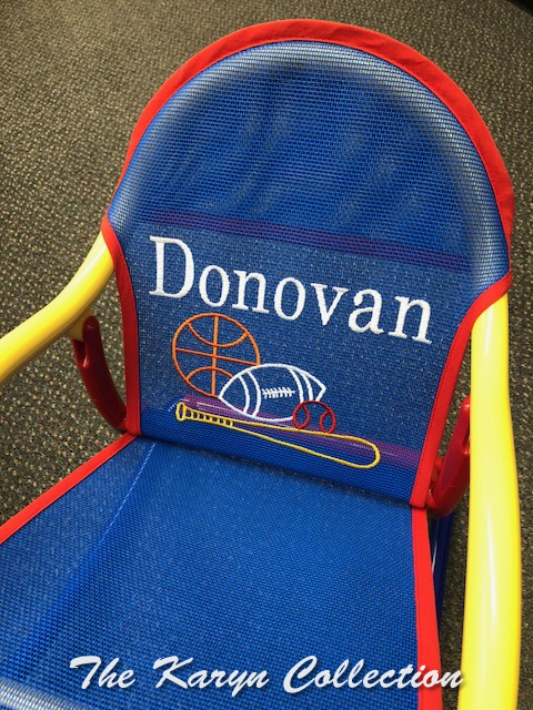 Donovan's Sports Rocker on primary mesh