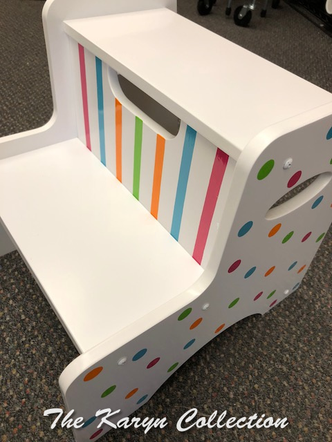 Dots N Stripes 2 Step Stool- in brights