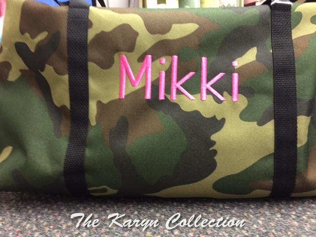 Mikki's Camo Duffle Bag