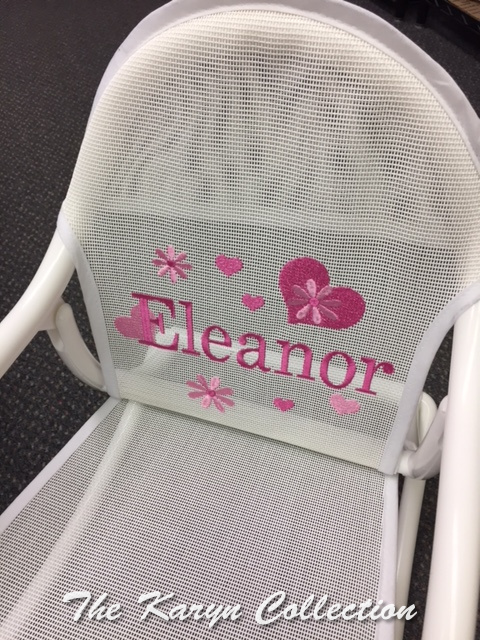 Eleanor's Flowers and Hearts Mesh Rocking Chair