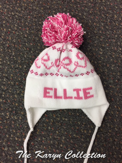 Ellie's Pink Earflap cotton Hat