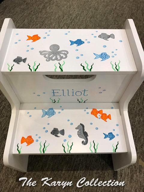 Elliot's sea creatures 2-step stool