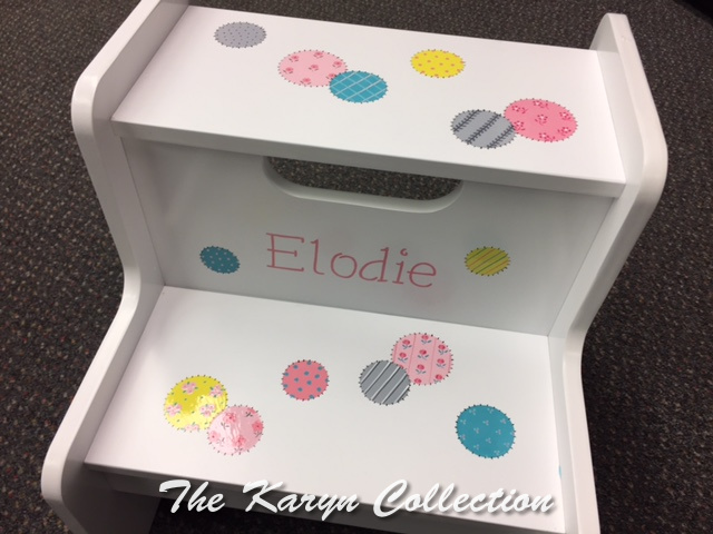 Elodie's Patchwork Dots 2 Step Stool