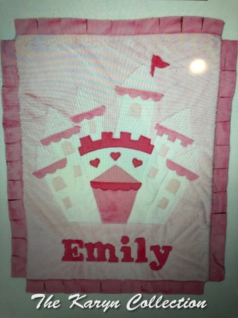Emily's minki castle blanket- all shades of pink