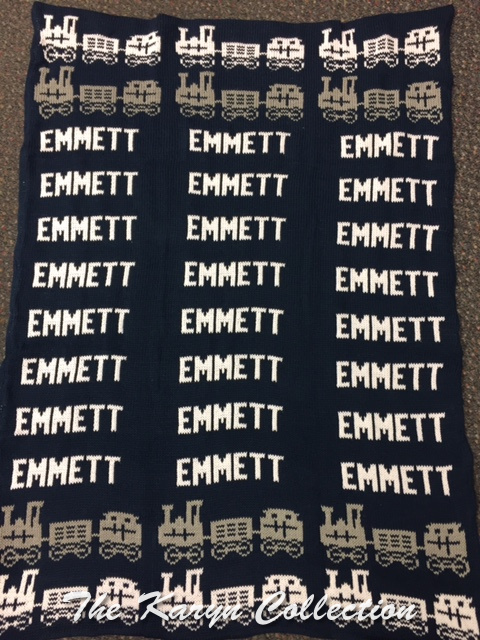 *EXCLUSIVELY OURS...EMMETT'S ALL COTTON TRAIN BLANKET