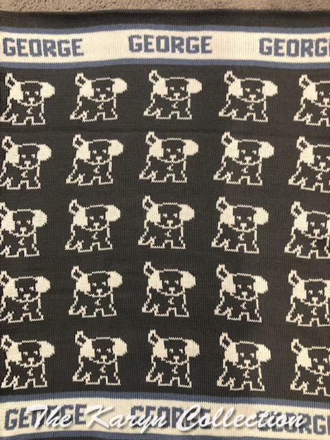 *EXCLUSIVELY OURS - George's all cotton puppy blanket