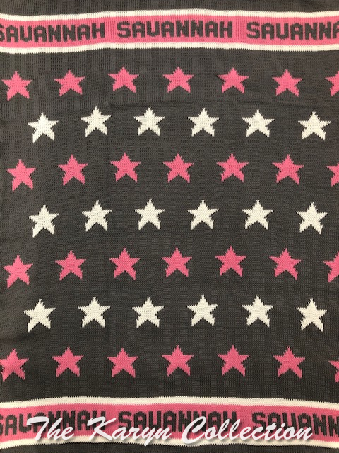 *EXCLUSIVELY OURS - Savannah's all cotton stars blanket
