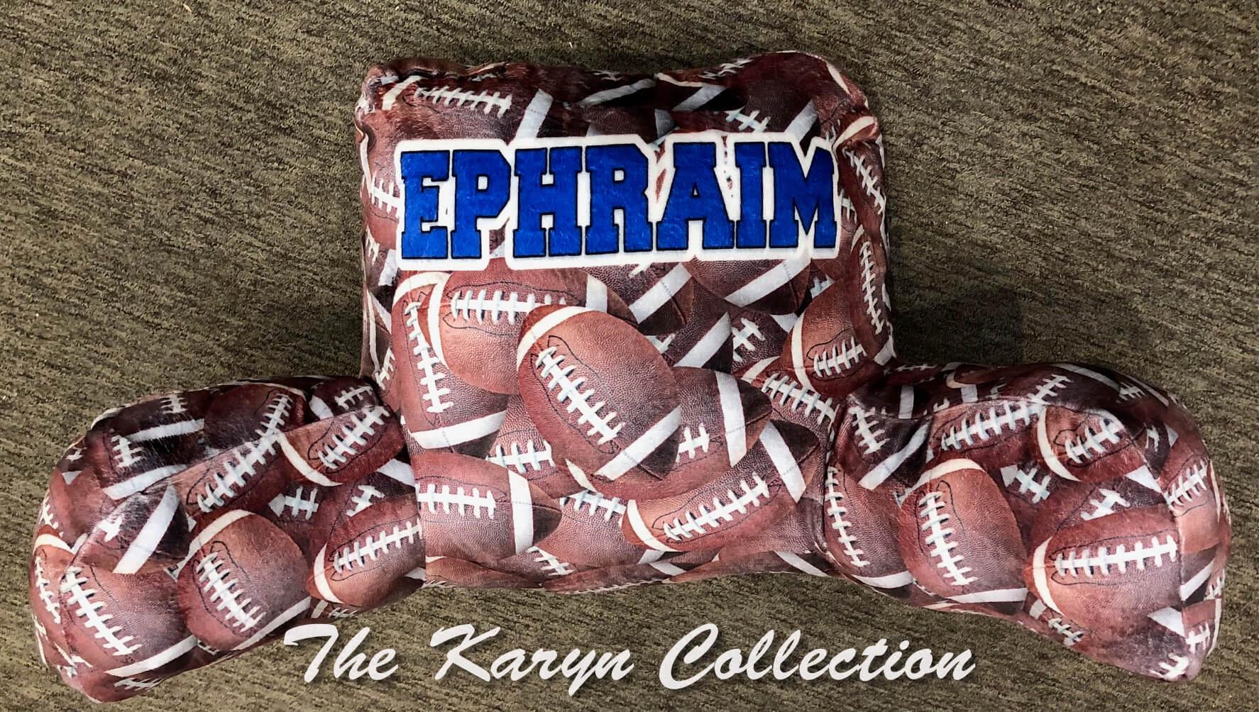 Ephraim's Football Study Pillow