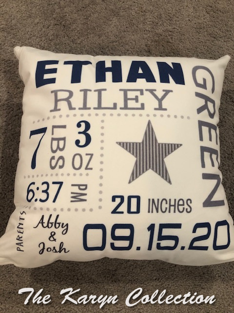 Ethan Riley's Birth Pillow