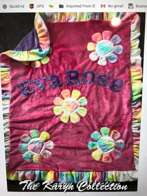 EvaRose's  Daisy Flowers Minki  Blanket