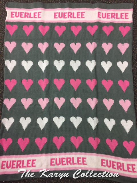 *EXCLUSIVELY OURS...EVERLEE'S ALL COTTON HEARTS BLANKET