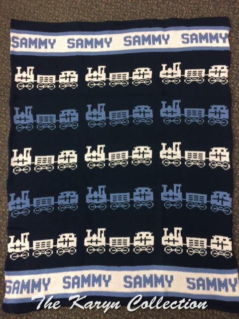 *EXCLUSIVELY OURS...SAMMYS ALL COTTON TRAIN BLANKET