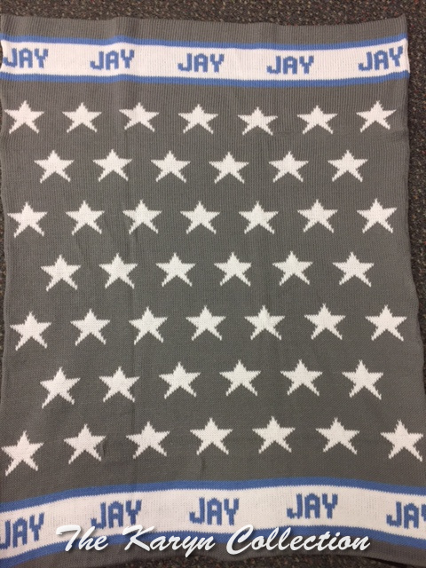 *EXCLUSIVELY OURS...JAYS COTTON ALL STAR STROLLER BLANKET