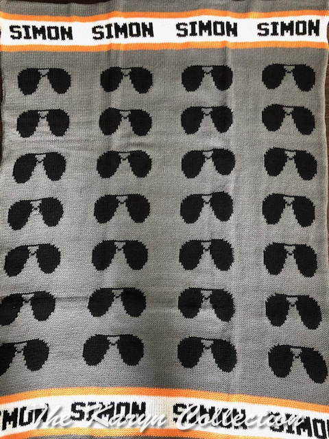 *EXCLUSIVELY OURS - Simon's aviator glasses blanket