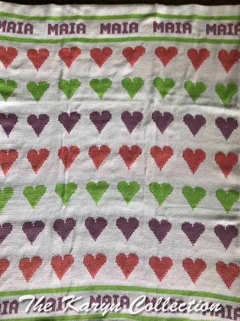 *EXCLUSIVELY OURS - Maia's hearts blanket