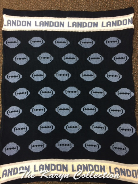 *EXCLUSIVELY OURS...Landon's Football ALL COTTON BLANKET